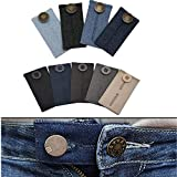 GuangZhou 8 teiliger Taillenverlängerer Verstellbarer Verlängerer für Jeanshosen Schwangerschaft, Verstellbarer Taillenexpander für Frauen und Männer Kann um ca. 5cm Verlängert Werden