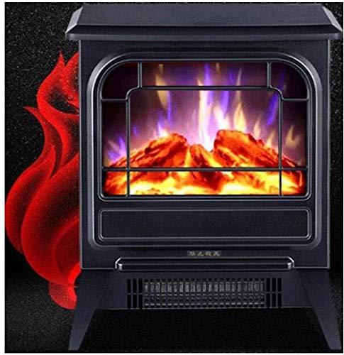 YAMMY Cuisinière électrique à Effet de Flamme, Cuisinière portative, Poêle à Foyer autoportant Chauffage intérieur 2 réglages de Chaleur 900/18 (Foyer électrique)