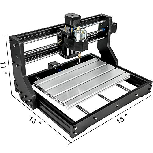 VEVOR CNC 3018-PRO 3 Axis CNC Router Kit GRBL Control with Offline Controller Plastic Acrylic PCB PVC Wood Carving Milling Engraving Machine XYZ Working Area 300x180x45mm