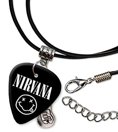 Nirvana Band Logo Collar de cordón de púa de guitarra (H)