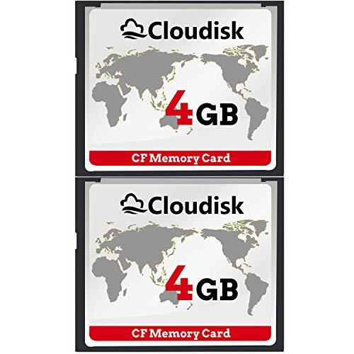 Cloudisk 2X CF-Karte Compact Flash 4 GB Speicherkarte Leistung für Vintage Digitalkamera (2pcs 4gb)