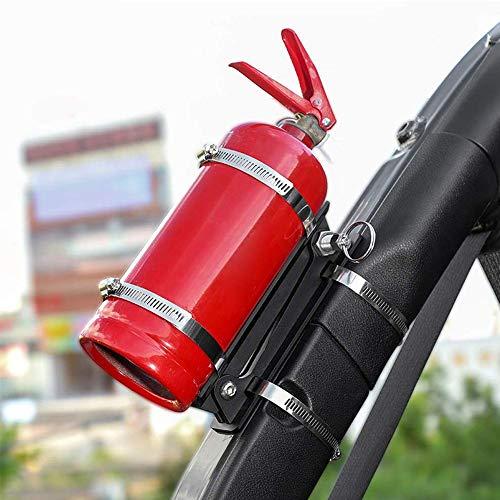 WXQYR 1 Stück/Set Metall Auto Verstellbarer Überrollbügel Feuerlöscherhalter Flaschenhalter für Jeep Wrangler TJ JK JKU JL 1996-2020 Autozubehör