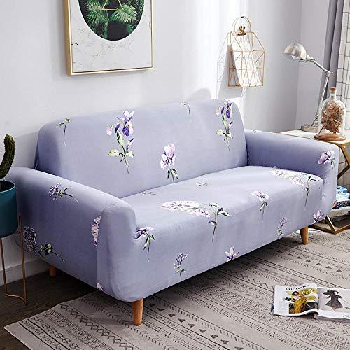 Funda Sofa 4 Plazas Chaise Longue Lavanda Fundas para Sofa con Diseño Elegante Universal,Cubre Sofa Ajustables,Fundas Sofa Elasticas,Funda de Sofa Chaise Longue,Protector Cubierta para Sofá