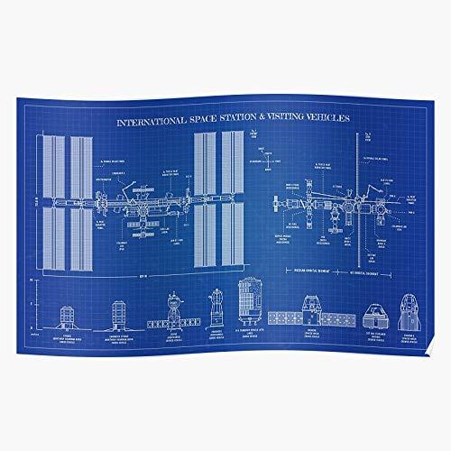 Generic NASA Rockets Soyuz Rapaz Exploration Dragon Blueprint Starliner Home Decor Wall Art Print Poster ! Home Decor Wandkunst drucken Poster !