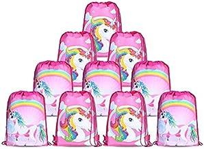 10pcs/Set Unicorn Bags for Unicorn Party Supplies Unicorn Drawstring Shoulder Backpack Bag Bulk for Girls Kids Children for Birthday Candy Baby Shower Unicorn Party Favors Gift-s