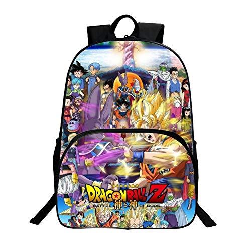 WCDP Dragon Ball Kids Mochila Niños Niñas Escuela de Moda Bolso Bandolera (D1)