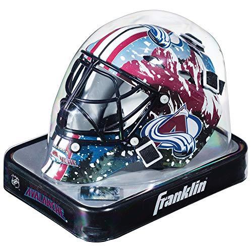 Franklin Sports Eishockey-Sammelartikel Torwart-Helm Mini, Design: Logo Einer NHL-Mannschaft, Unisex, 7784F27, Colorado Avalanche, Einheitsgröße