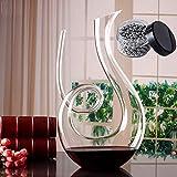 SDFSX Botella 100% hecha a mano, regalo de vino, botella de vino de cristal, botella de vino sin plomo, botella de vino de cristal que despierta rápidamente decantador de escritorio de vino