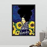BailongXiao Caractère Nordique caractère Moderne Peinture sur Toile Art Abstrait Affiche Fille Salon Chambre Art,Peinture sans cadreCJX52-60X80cm