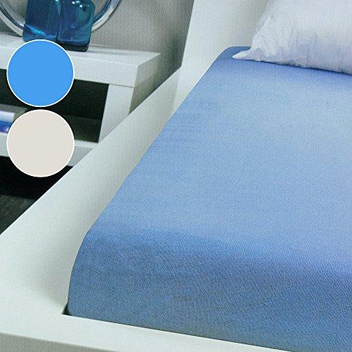 Bassetti 1x Spannbetttuch aus Baumwolle Bettlaken Betttuch 90x200cm hellblau