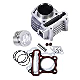 47mm Cylinder Piston Rings Gasket Kit for GY6 49cc to 80cc Scooter Moped ATV Go Kart 139QMB 139QMA Engine