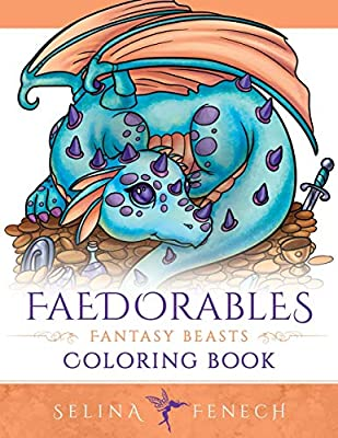 Faedorables Fantasy Beasts Coloring Book (Fantasy Coloring By Selina) from Fairies and Fantasy Pty Ltd