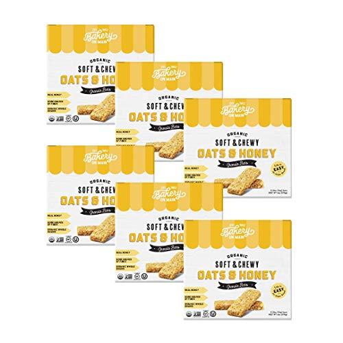 Bakery On Main, USDA Organic, Gluten-Free, Non-GMO - Oat & Honey - Granola Bars (Pack of 6) (Pack of 1)