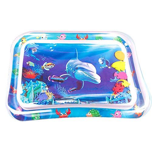 JSJE Baby Partmy-Time Water Mat, Mats de Juego de Agua Caliente, PVC Water Baby Intellectual Development Game Toy, Children Splash Play Mat Point Pool Juguetes para niños