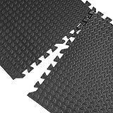 Extra Thick Gym Flooring Interlocking Tiles Floor Mats Eva Soft Foam Mat Yoga (6 TILES (24 Square feet))