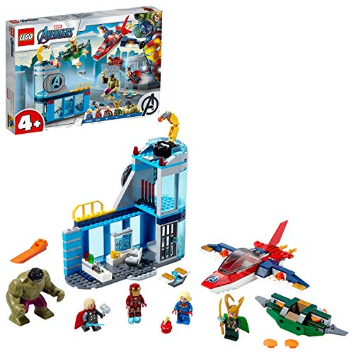 LEGO 76152 Super Heroes Marvel 4+ Avengers – Lokis Rache Set, Super Heroes Serie mit Iron Man & Hulk Figuren