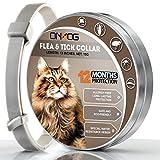 ONMOG Collare antipulci per Gatti – 12 Mesi di Protezione Contro Le zecche – Regolabile, Sicuro e Impermeabile – Collare antipulci Naturale e Anallergico