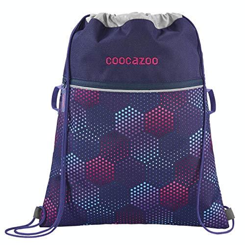 """Coocazoo Sportbeutel RocketPocket """"Purple Illusion"""", lila, mit Reißverschlussfach und Kordelzug, reflektierende Elemente, Schlaufen zur Befestigung am Schulrucksack, für Mädchen, 10 Liter"""