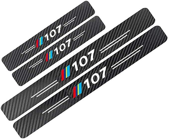 YPQQG 4Pcs Car Door Sill Guard Protector P for Scuff Kick Ranking TOP4 Plate Chicago Mall