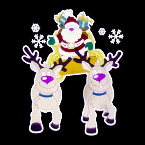 LuminalPark Proiettore Garden Babbo Natale su Slitta, effetto movimento, 3 immagini, melodia natalizia, 5V, esterno