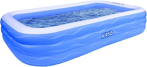 "Inflatable Swimming Pool Family Full-Sized Inflatable Pools 118"" x 72"" x 22"" Thickened Family Lounge Pool for Toddlers, Kids & Adults Oversized Kiddie Pool Outdoor Blow Up Pool for Backyard, Garden"