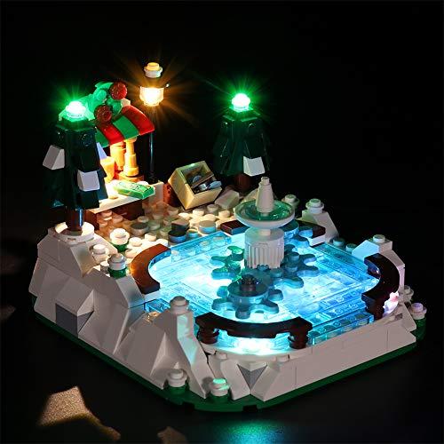 TMIL Conjunto De Iluminación LED Compatible con Lego 40416, Kit De Luz DIY para El Bloque De Construcción De Pista De Patinaje sobre Hielo, Accesorios De Juguete (Solo Conjunto De Luz)