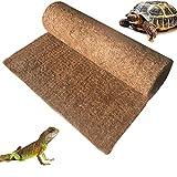 BLSMU Reptile Carpet,Coconut Fiber Substrate,Lizard Cage Mat,Coco Fiber Liner,Snake Bedding,Natual Coconut Fiber Carpet for Bearded Dragon,Turtles,Iguana,Tortoises (35.4' x 15.7')