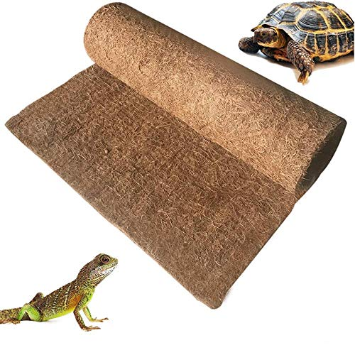 BLSMU Reptile Carpet,Coconut Fiber Substrate,Lizard Cage Mat,Coco Fiber Liner,Snake Bedding,Natual Coconut Fiber Carpet for Bearded Dragon,Turtles,Iguana,Tortoises (35.4' x 15.7')
