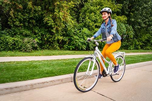 Schwinn Discover Hybrid Bike with Rear Cargo Rack, White