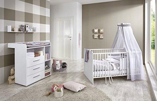 Babyzimmer komplett Set KIM in Weiß (KIM 5)