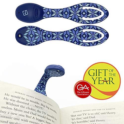 Flexilight LED leesboek Lichtklem Aan Verstelbaar Reisbladwijzer Lamp Gift - IJslands blauw