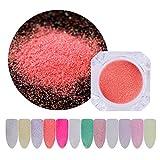 Froiny 1 G De Azúcar En Polvo Tarros De Uñas Cromo Metálico En Polvo Colores Efecto Espejo del Polvo De Uñas