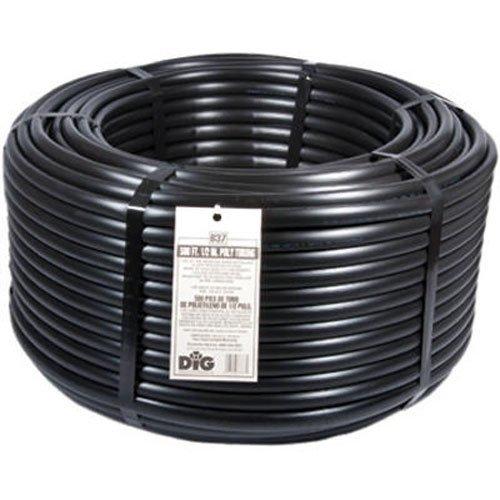 "DIG B37 B 37 1/2"" Poly Drip Tubing, 500', Black"