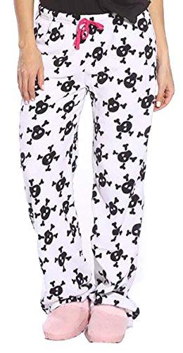 Just Love Women's Plush Pajama Pants - Petite to Plus Size Pajamas,Skulls,Small