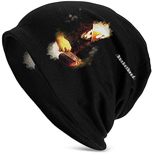 Buckethead Adult Herren Strickmütze Muster Baggy Cap Hedging Kopf Hut Top Level Beanie Cap