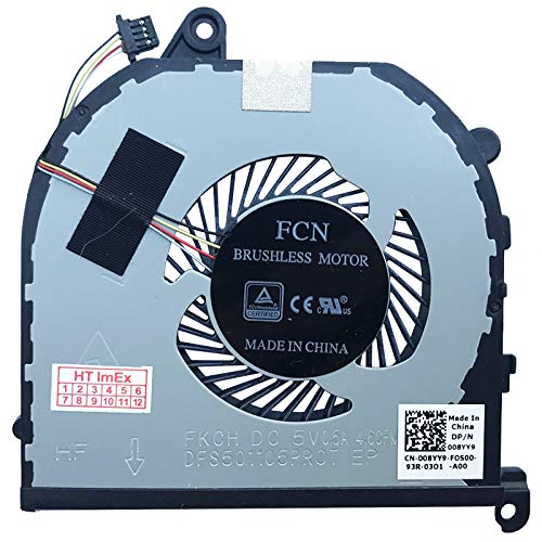 (CPU Verison) Fan Cooler Compatible with Dell XPS 15 (9560-4575), 15 (9560-31P34), 15 (9570-0286), 15 (9570-3309), 15 (9570-0309), 15 (9570-09570-09) 378).