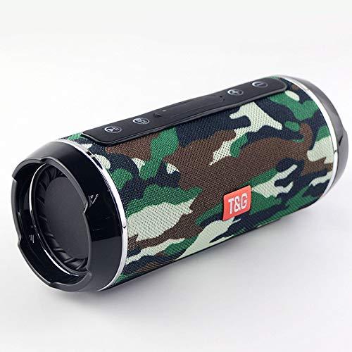 Digitalkey TG116 - Altavoz inalámbrico Bluetooth portátil y antisalpicaduras, diseño de camuflaje