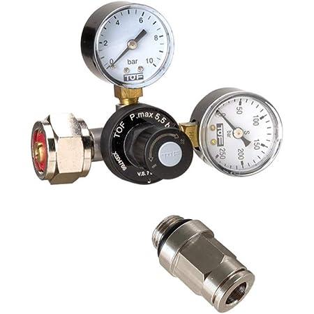 Neues Wasser Group Réducteur de pression de CO2 pour bouteilles réutilisables avec connecteur compatible avec le système Brita Yource