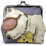 West Highland White Terrier Dormir para Perros Bolsa Vintage Chica Kiss-Lock Cambiar Monedero Carteras Hebilla Monederos de Cuero