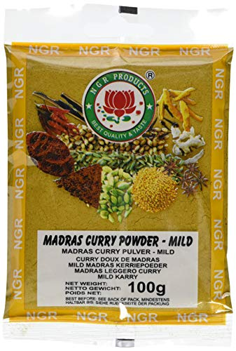 Ngr Currypulver, mild, Madras, 100g (1 x 100 g Packung)