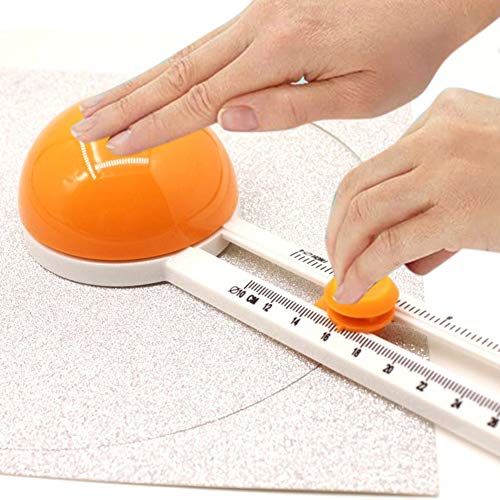 Rotary Cutters Circular Paper Cutter,Rotary Circle Cutter for Children Cut Circle Paper Trimmer Cards Cutters Multi-Functional Round Cutting Knife Model DIY Cards Making Manual Cutting Tool