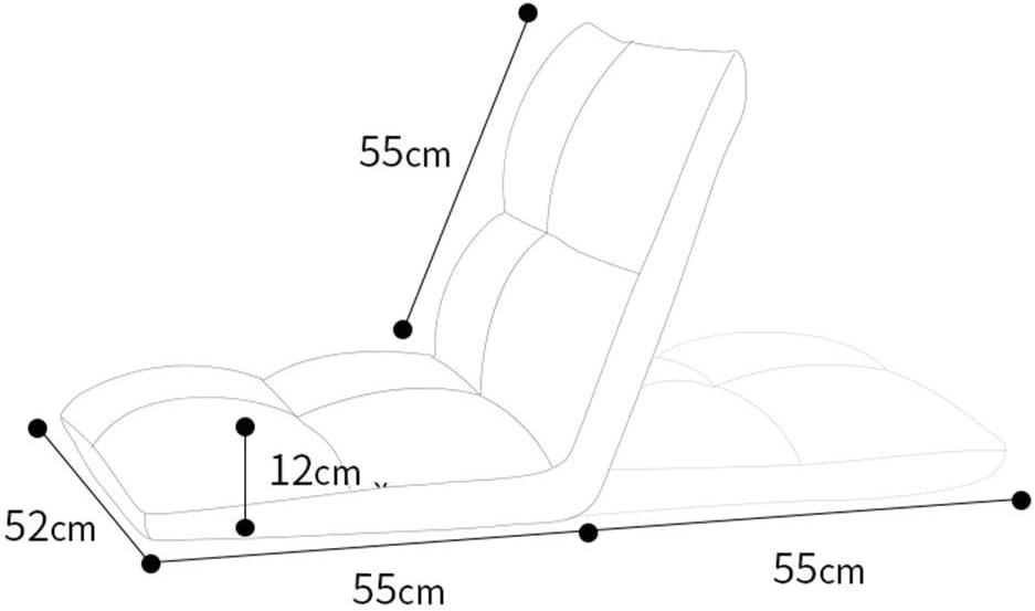 WZF Fauteuils Chaise de Sol Pliante 5 Positions réglable Salon Chambre Gaming Canapé Chaise Dossier Chaise, 7 Couleurs (Couleur: Bleu) Blue