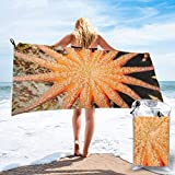 XCNGG Toallas de baño toallas de playa toallas de secado rápido Quick Dry Starfish Beach Towel Easy to Carry-Sand Free Bath Towels with PVC Packing Bag and Mountaineering Buckle for Swimming Yoga Trav