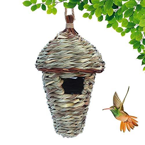 AXZXC Vogelhaus Wintervogelhaus Zum Aufhängen Im Freien Handgewebte Vogelhäuser Natürliche Vogelhäuser Im Freien Vogelhäuser Für Kinder