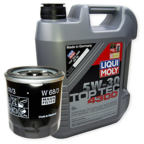 LIQUI MOLY Top Tec 4300 5W-30 3741 + MANN FILTER Ölfilter W 68/3