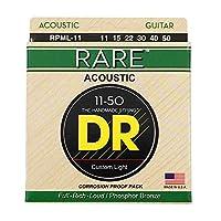 DR RARE RPML-11 Medium Lite アコースティックギター弦×3セット