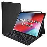 ProCase Custodia con Tastiera per iPad Pro 11'2018, Custodia Protettiva Folio Stand Slimweight Folio con Tastiera Wireless Senza...