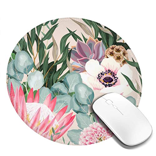 Gaming Computer Mouse Pad Round Gaming Mousepad Non-Slip Base, Water-Resistant, for Work & Gaming, Office & Home 20cm