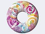 Smart Planet® Flotador Jumbo Jumboring – Diseño Candy World – Flotador hinchable – Anillo de piscina – Colchón de aire – Diámetro de 76 cm