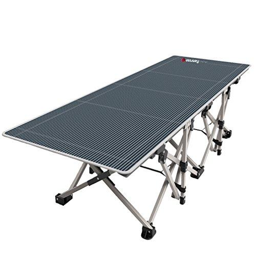 FLAMROSE 特許取得の頑丈な折り畳みアウトドアキャンプベッド – 26本の頑丈な補強と10の補強ポイント – 枕と収納バッグ付き – キャンプ用品 防災 非常用ベッド 病院付き添いベッド